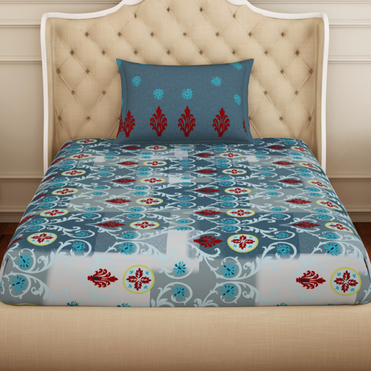 SPACES Atrium Printed 2-Pc. Single Bedsheet Set-152 x 228 cm