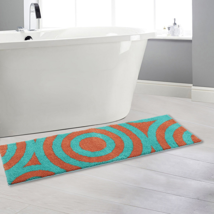 India Inspired Concentric Printed Bath Runner - 49 x 149 cm