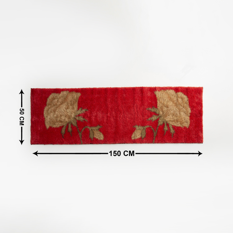 India Inspired Textured Bath Runner - 50 x 150 cm