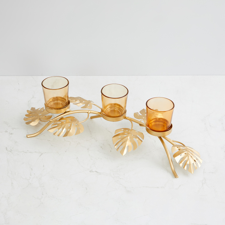 Eternity Footed Philo Leaf Multi-Votive Holder