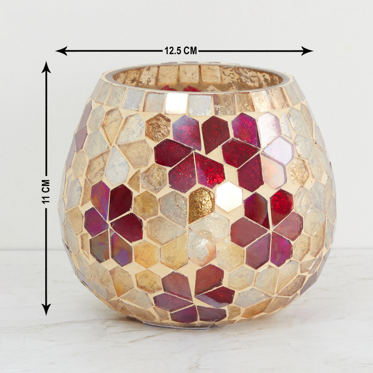 Galaxy Mabel Flower Mosaic Votive Holder