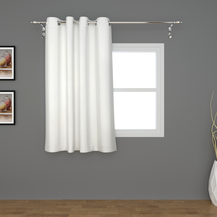 Marshmallow Solid Semi-Blackout Window Curtain - 120 x 160 cm