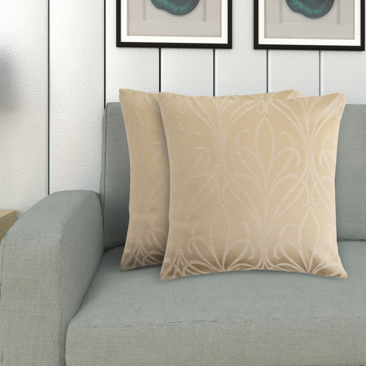 Jade Printed Cushion Covers - Set of 2 - 40 x 40 cm