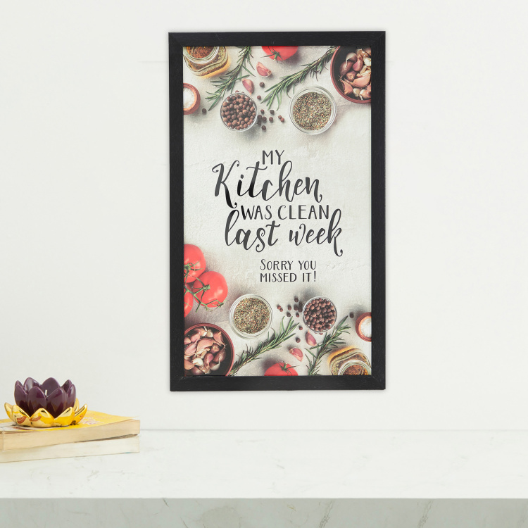 Axiom Kitchen Quote Frame- 30 x 50 cm