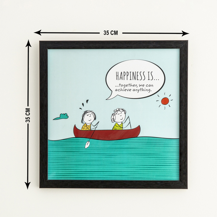 Happiness Is Achieving Together Picture Frame - 35 x 35 cm