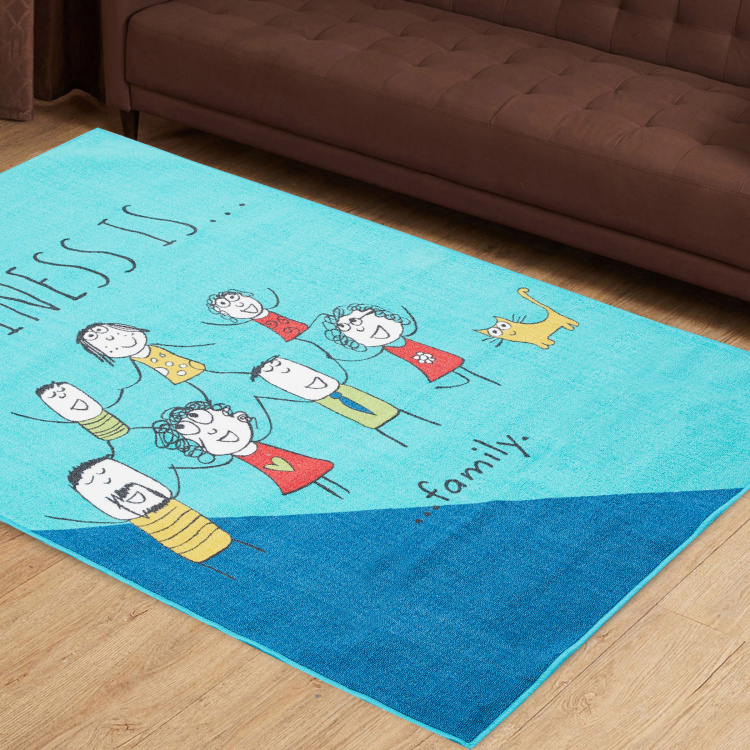 Happiness Printed Carpet - 1.20 x 1.80 m