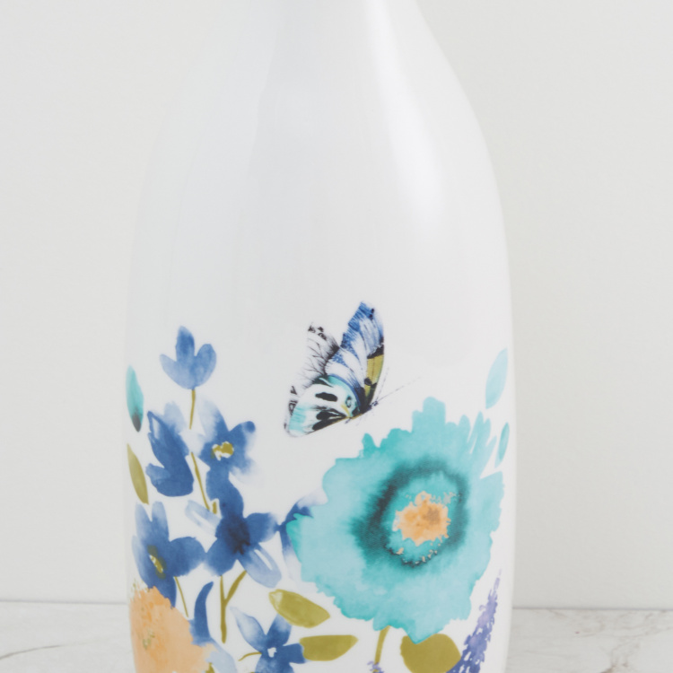 Splendid Floral Decal Vase