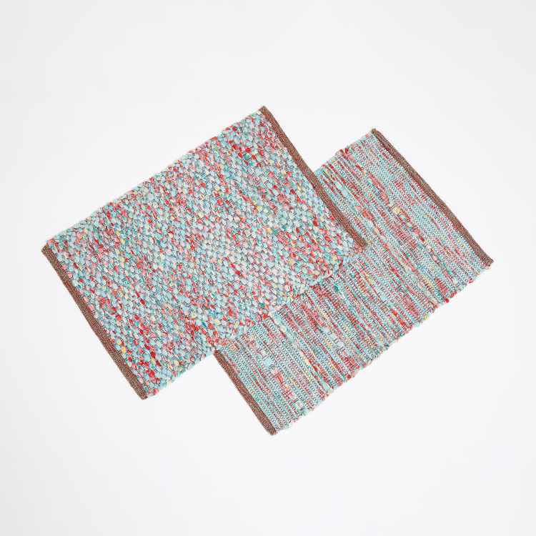 Melange Textured Dhurrie - Set of 2 Pcs - 52 x 78 cm