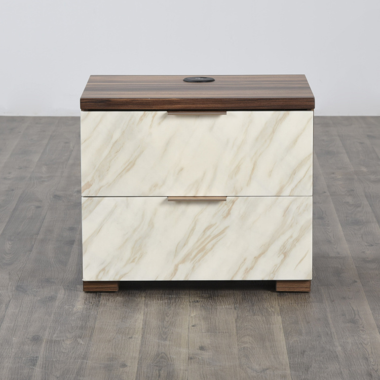 Antonio Textured Night Stand with Dash Charger