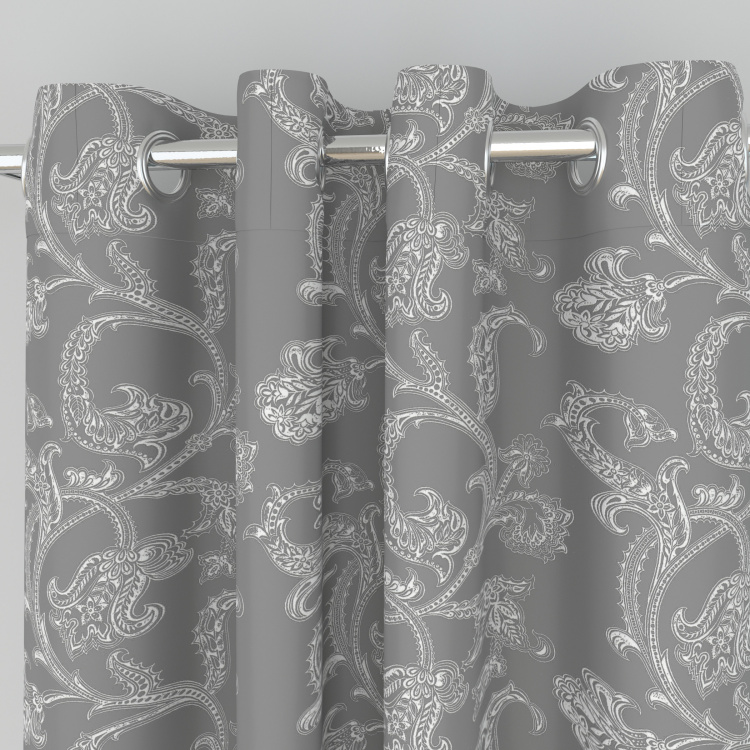 Griffin Printed Blackout Window Curtain Pair - 120 x 160 cm