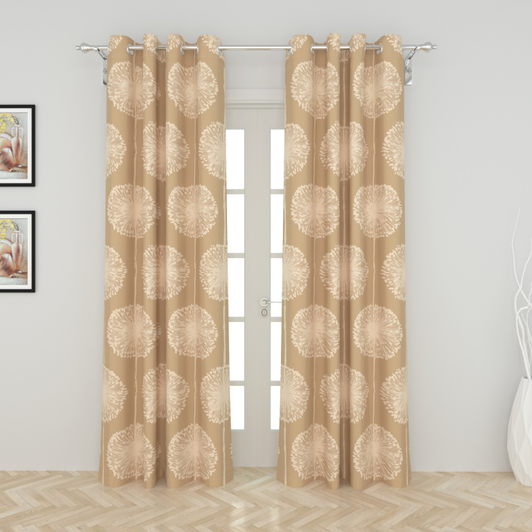 Griffin Printed Blackout Door Curtain Pair - 120 x 225 cm