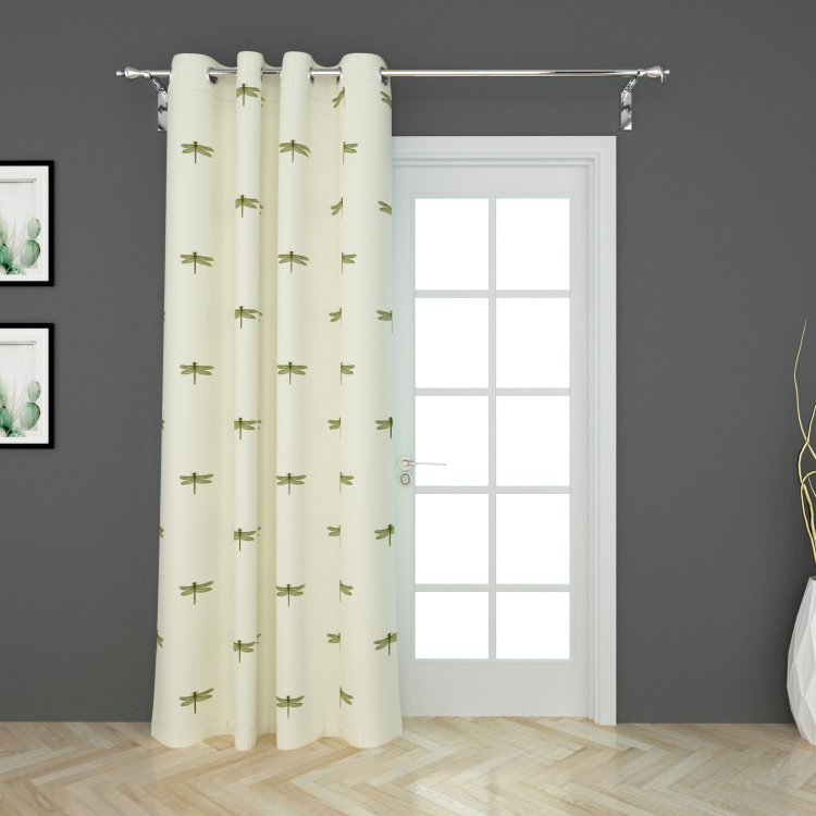 Medley-Symply Serene Embroidered Door Curtain - 120 x 225 cm