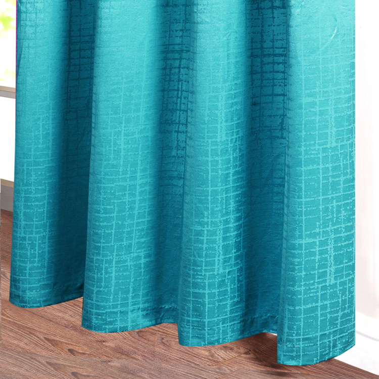 DECO WINDOW Textured Semi-Blackout Door Curtain Pair - 1.32 x 2.28 m