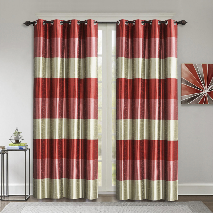 DECO WINDOW Silk Route Blackout Door Curtain Pair - 1.32 x 2.28 m