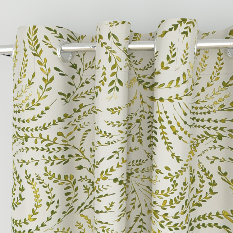 Saddle Fern Printed Window Curtain - 110 x 160 cm