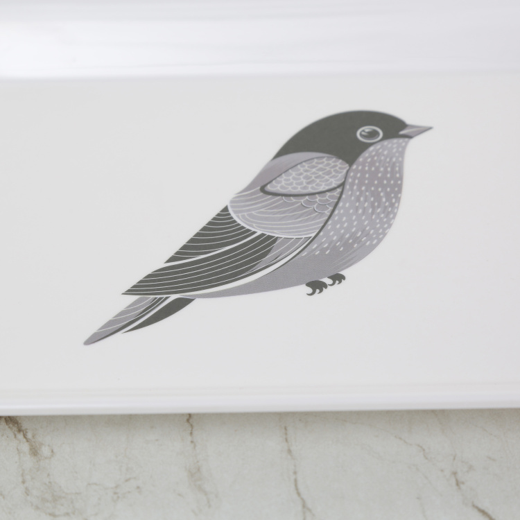 Meadows Bird Print Serving Tray