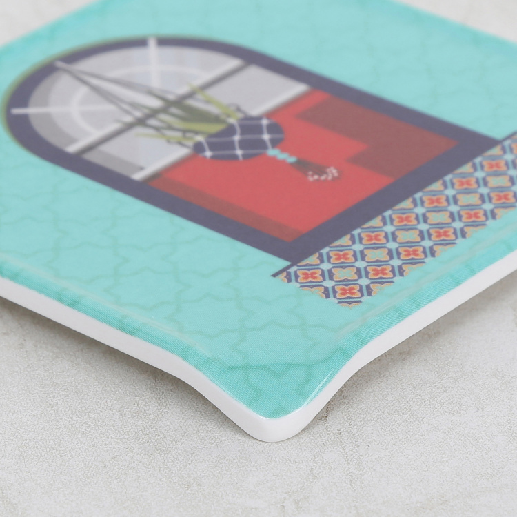 Raisa Retro 6-Pc. Printed Coasters with Stand