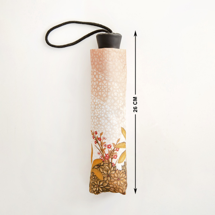 Canopy Mahal Print Three-Fold Umbrella