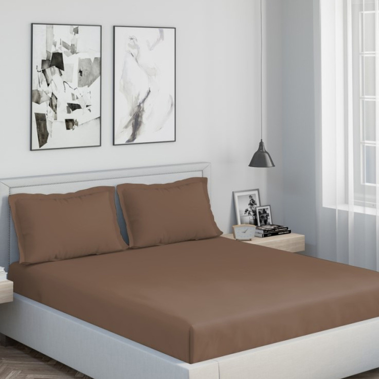 D'DECOR Duet Solid 3-Pc. King Size Bedsheet Set - 274 x 274 cm