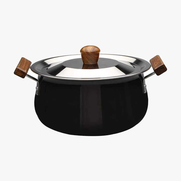 WONDERCHEF Ebony Handi with Lid  - 24 cm