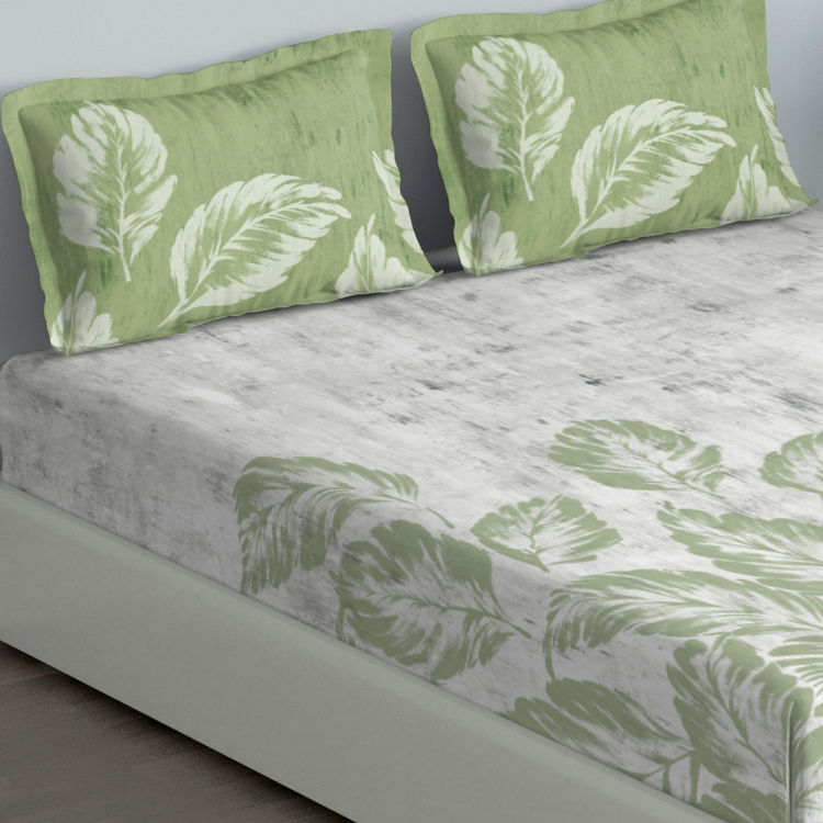 D'DECOR Cherish Tropical Print 3-Piece King-Soize Bedsheet Set - 274 x 274 cm