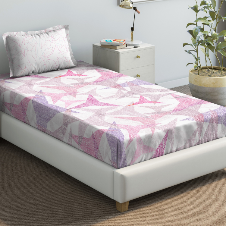 D'DECOR Primary Printed 2-Pc. Single Bedsheet Set - 152 x 229 cm