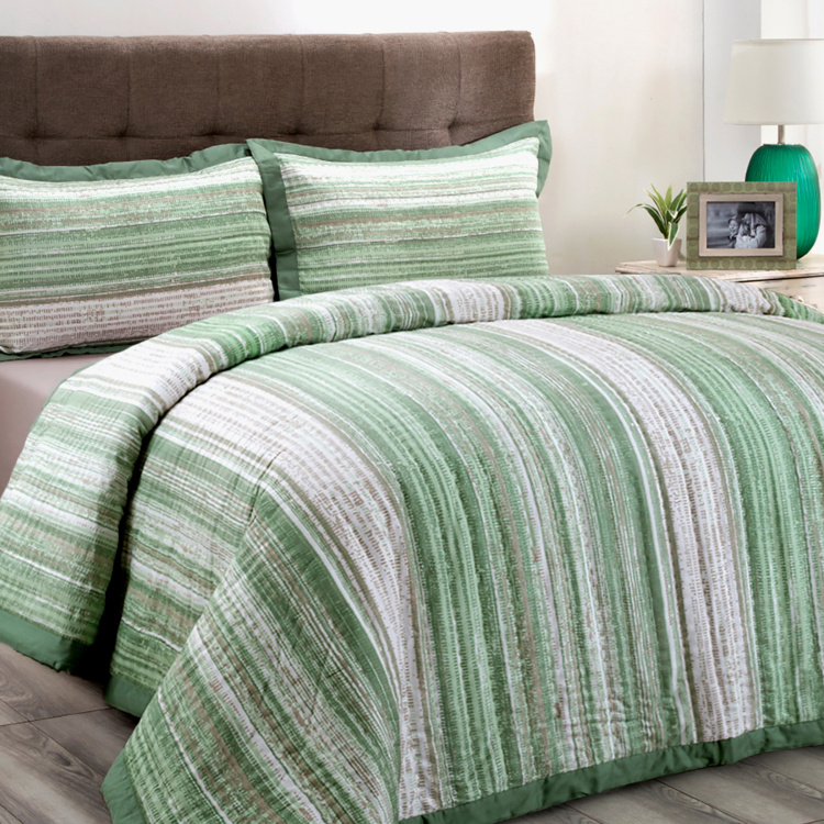 MASPAR Patina Impression Striped Single Bed Quilt - 152 x 250 cm
