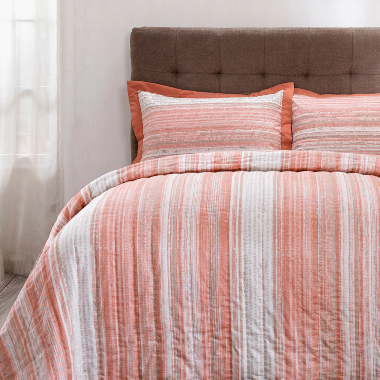 MASPAR Patina Striped Single Bed Quilt - 152x250 cm