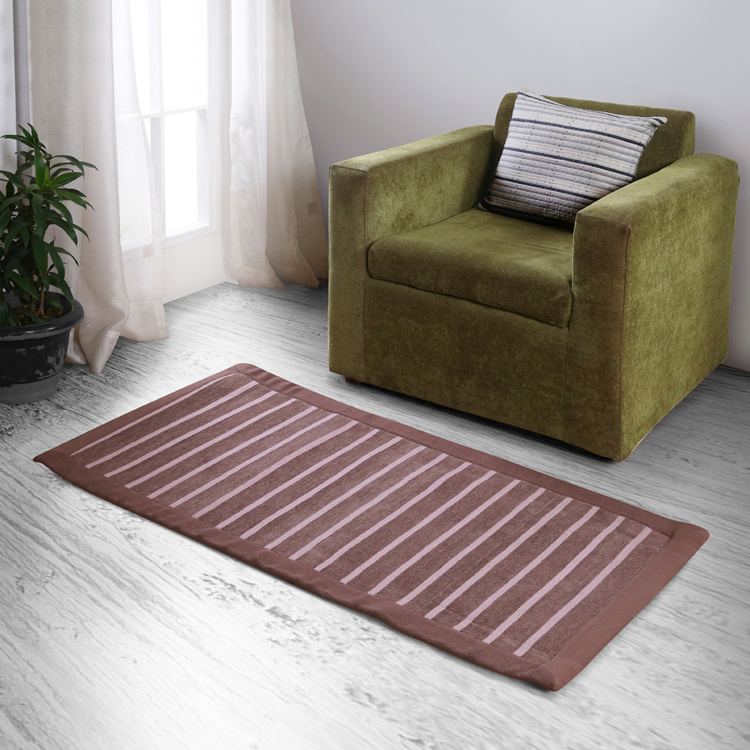 MASPAR Dark Dune Striped Medium Floor Rug - 60 x 152 cm