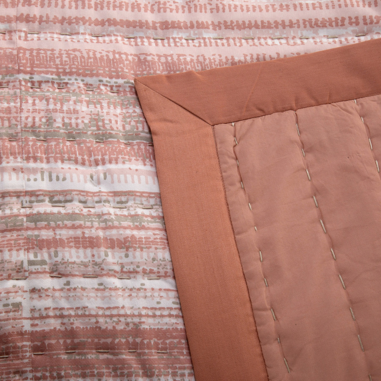 MASPAR Patina 7-Pc. Striped Double Bed Quilt Set - 228 x 265 cm