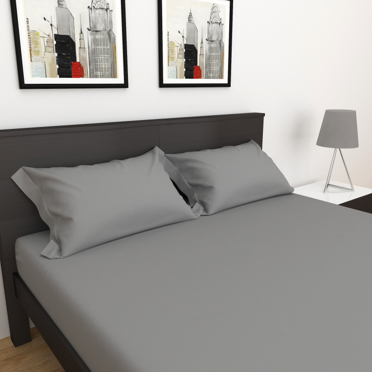 D'DECOR Duet Solid 3-Pc. King Size Bedsheet Set - 2.74 x 2.74 m