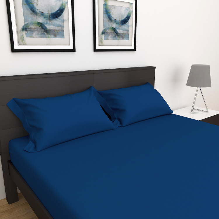 D'DECOR Spectrum Solid 3-Pc. Double Bedsheet Set - 2.74 x 2.74 m