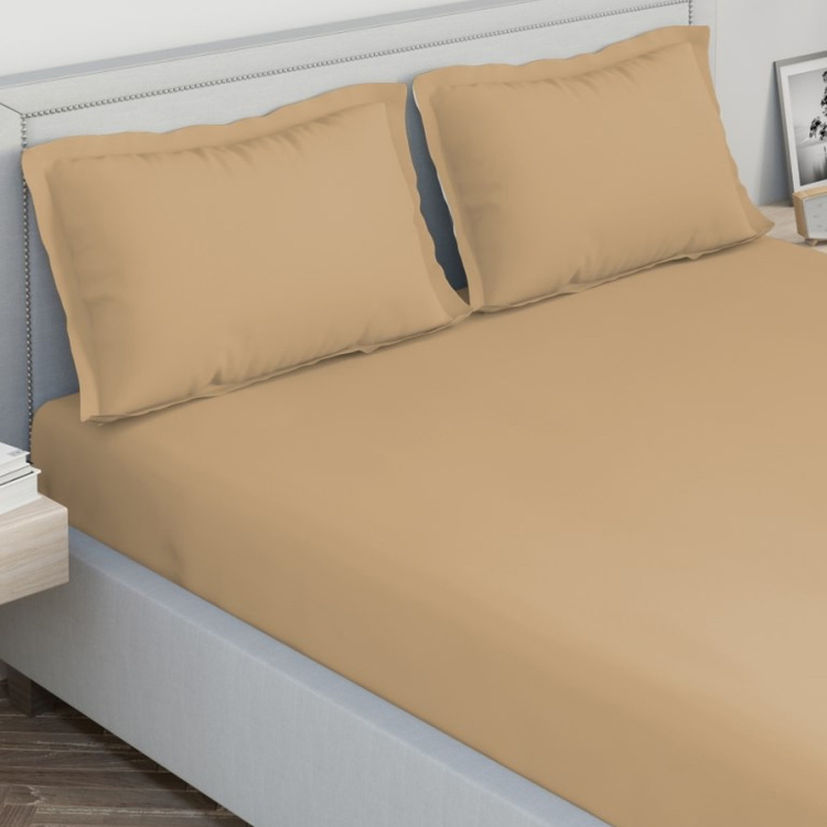 D'DECOR Spectrum  Solid 3-Pc. King Size Bedsheet Set - 274 x 274 cm