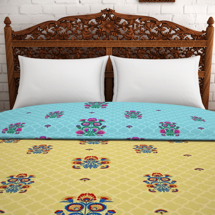 SPACES Celebrations Printed Double Bed Quilt - 2.18 m x 2.38 m