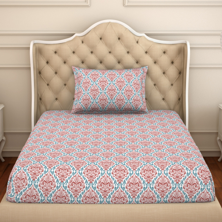 SPACES 2-In-1 Ornamental 2-Pc. Single Bedsheet Set - 1.52 x 2.28 m