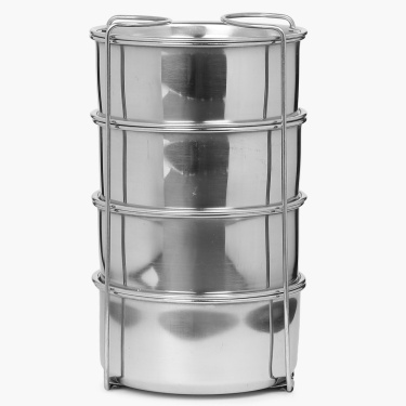 MILTON Tuscani Thermosteel 4 Tier Lunch Box